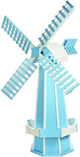 product image for DutchCrafters Decorative Poly Two-Tone Windmill (Large, Powder Blue/White)