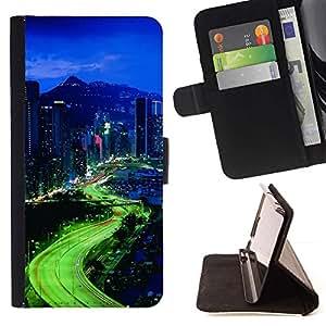 Momo Phone Case / Flip Funda de Cuero Case Cover - Luces de la ciudad;;;;;;;; - Sony Xperia M2