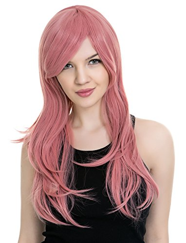 PINKISS High Quality Japanese Lolita Temperament Fashion Cosplay Wig with Free Quality Wig Cap (LS103  PINK)