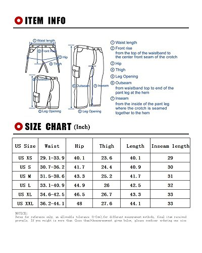 Men's Quick Dry Convertible Cargo Pant #6601,Black,US L