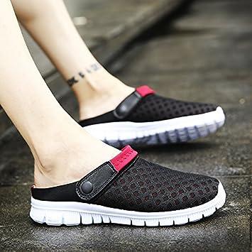 Los hombres de verano verano zapatillas hombres zapatillas tendencia Coreana de cool arrastre y playa zapatos Zapatos agujero agujero Baotou grandes números ...