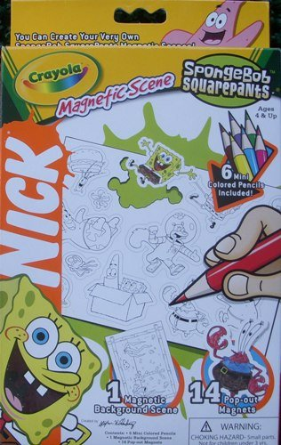 Spongebob Squarepants Magnetic Scene Crayola (Large) by Nickelodeon (Spongebob Scene Kit)