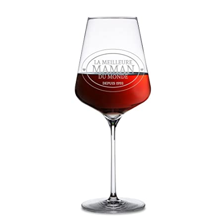 7ed498662d1 Red Wine Glass - Personalised with [Date] - Best Mum In The World -  Mother's Day Gift for Mothers: Amazon.co.uk: Kitchen & Home