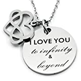 N.egret Infinity Love Heart Jewelry Necklace Pendant Anniversary Gift for Mom Daughter Couples Girlfriend