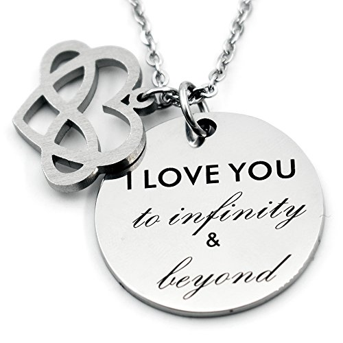 N.egret Infinity Love Heart Jewelry Necklace Pendant for Mom Daughter Couples Girlfriend