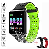 mazaer N88 Smart Watch Slimy IP68 Waterproof Swimming Color Screen Smartwatch Heart Rate Tracker Blood Pressure with 2 Changeable Band
