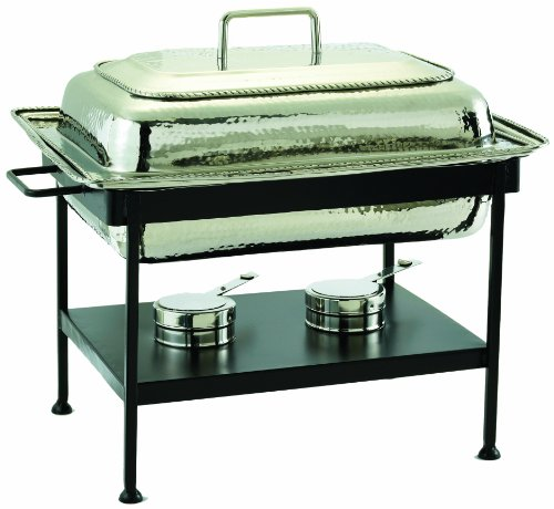 Chrome Round Chafer - Old Dutch 21 Inch x 16 Inch x 19 Inch Round Stainless Steel Chafing Dish