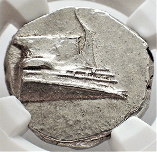GR 4th Century BC Greece, Antique Ancient Greek Silver Coin, Rare Coins, Galley AR Stater Mint State NGC