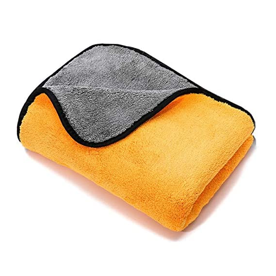 PrimAlite Microfiber Cleaning Cloth 800 GSM for Car & Motorbike- Pack of 1 (30 x 30 cm) for Home & Kitchen, Mobile