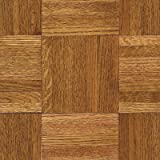 Urethane Parquet 12'' Solid Oak Flooring in Honey