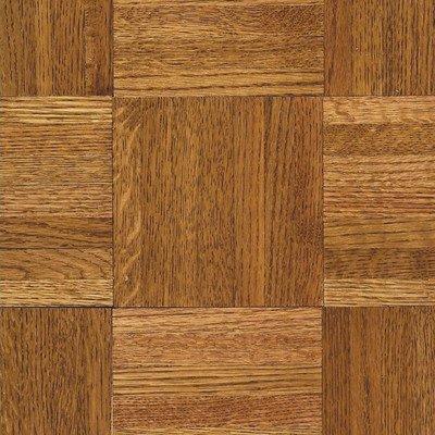 "Urethane Parquet 12"" Solid Oak Flooring in Honey"