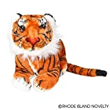 One Realistic Stuffed Animal Plush Tiger In Laying Position - 15