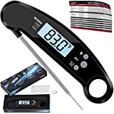 Digital Meat Thermometer- Best Waterproof Instant Read Thermometer with Talking Function, Backlight, Calibration, and Magnet. Super Fast Food Thermometer for Kitchen, Cooking BBQ, Grill!
