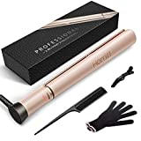 Homitt Hair Straightener, Professional Ceramic Flat Iron for Hair with Negative Ion & Dual Voltage, 3D Floating Plates Twist Straightening Iron with Adjustable Temperature (250-450F)