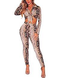 2 Piece Outfits for Women Long Flare Sleeve Blazer Crop Top Wide Leg Palazzo Pants Set Clubwear