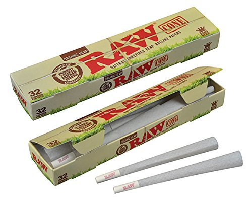 RAW-Organic-Unrefined-Pre-Rolled-Cone-32-Pack-King-Size