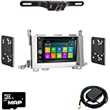 Otto Navi DVD GPS Navigation Multimedia Radio and Dash Kit for Toyota Venza 2009-2015 with Back up camera and extra