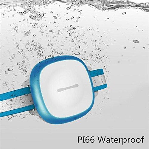 Pet GPS Tracker, Tvird Pet Locator Tracker,Mini Waterproof GPS LBS WIFI Tracker Locator Free Online Tracking Platform, WIFI Realtime Tracking Collar Locator (Blue)