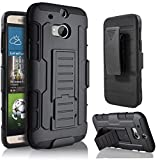 HTC M8 Case,Stanlance Swivel Belt Clip Holster Shell Cover with Kickstand [MILITARY GRADE] Heavy Duty Sturdy Rubber Armor Case for HTC M8