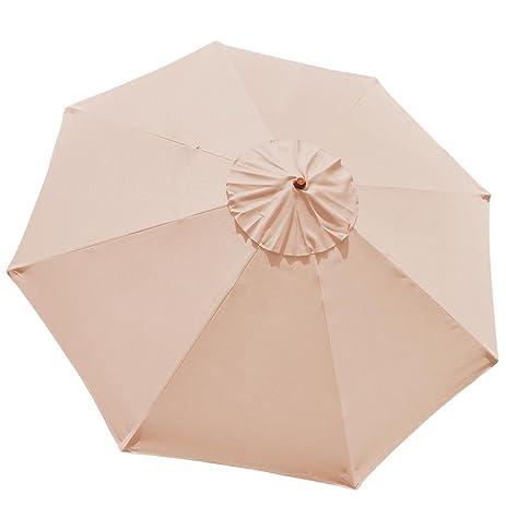 10FT 8 Ribs Umbrella Cover Canopy Tan Replacement Top Patio Market Outdoor Beach  sc 1 st  Amazon.com & Amazon.com : 10FT 8 Ribs Umbrella Cover Canopy Tan Replacement Top ...
