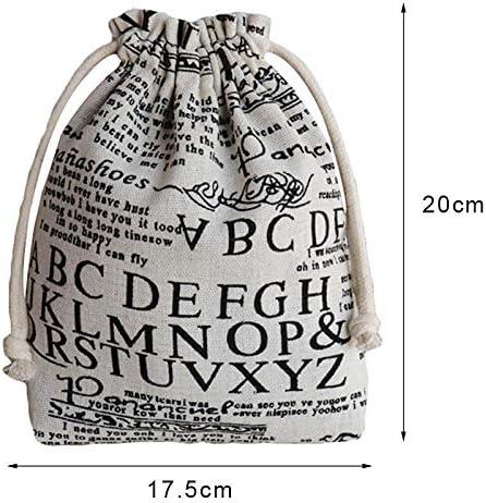 Qinlee Flamingo Mod/èle Sac /à Cordon Trousses pour Voyage Cordon de Serrage Bijoux Sacs Poche de Tirage Femmes Enfant Sac Coton et Lin 17.5cm*20cm