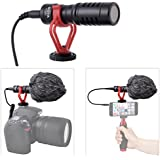 Super Cardioid Shotgun Video Microphone Universal Compact On-Camera Mini Recording Mic Directional Condenser for IPhone Android Smartphone Mac Tablet Youtube DSLR Camera Camcorder
