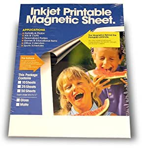 Magnetic Printable Sheets, Matte, Inkjet Ready, Make Your Own Personalized Magnet! (Pkg/5)