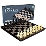 2 in 1 Travel Magnetic Chess and Checkers Set - 12.5''