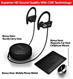 SENSO Bluetooth Headphones, Best Wireless Sports Earphones w/Mic IPX7 Waterproof HD Stereo Sweatproof Earbuds for Gym Running Workout 8 Hour Battery Noise Cancelling Headsets (Grey)