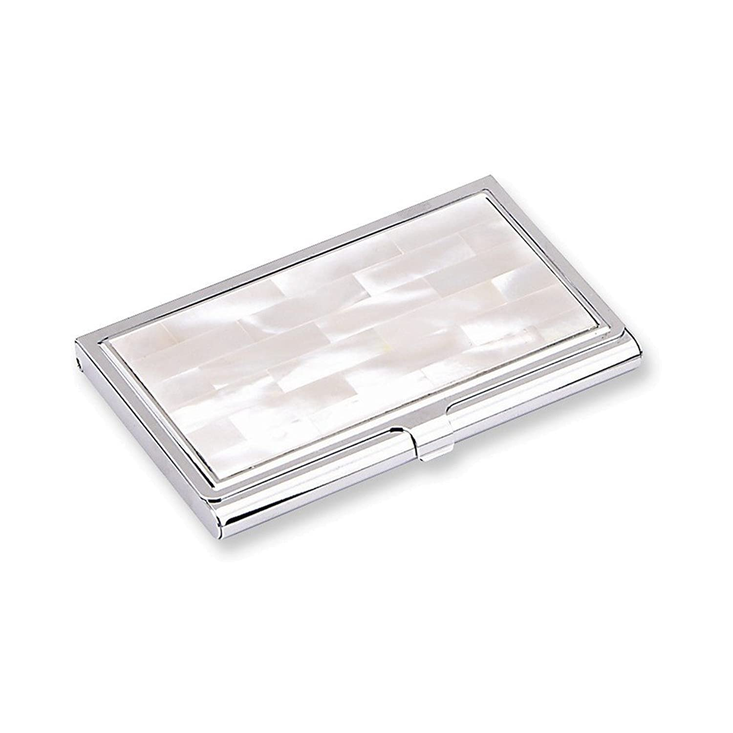 Amazon white mother of pearl business card holder jewelry magicingreecefo Image collections