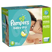 Pampers Baby Dry Diapers Size-4 Economy Pack Plus, 180-Count- Packaging May Vary