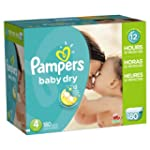 Pampers Baby Dry Diapers Size-4 Econo...
