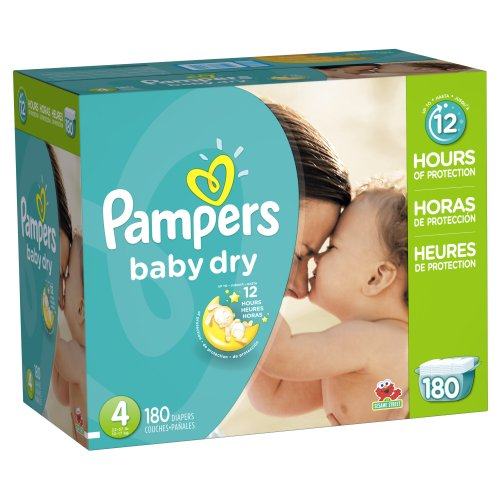 5 Value Pack (Pampers Baby Dry Diapers Size 4, 180)