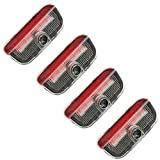4pcs Fit for VW Car LED Door Warning Light Welcome Logo Projector For VW Passat B6 B7 CC Golf 6 7 MK5 MK6 Tiguan Scirocco