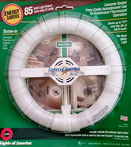 Lights of America Screw-In Compact Fluorescent Adapter wi...