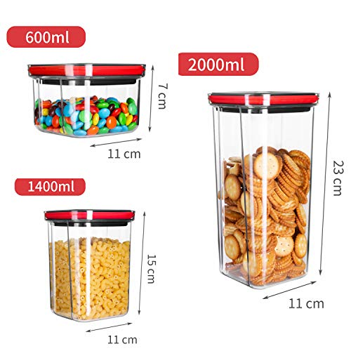 Food Storage Containers, Airtight Storage Containers with Lids, Kitchen Organization and Storage Set,Kitchen Pantry Organization Containers, 4 Pieces
