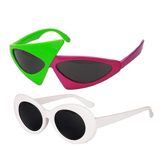 c0f1d59eb0 Amazon.com  Fenteer 2 set Adults  Novelty Sunglasses   Vintage Clout ...