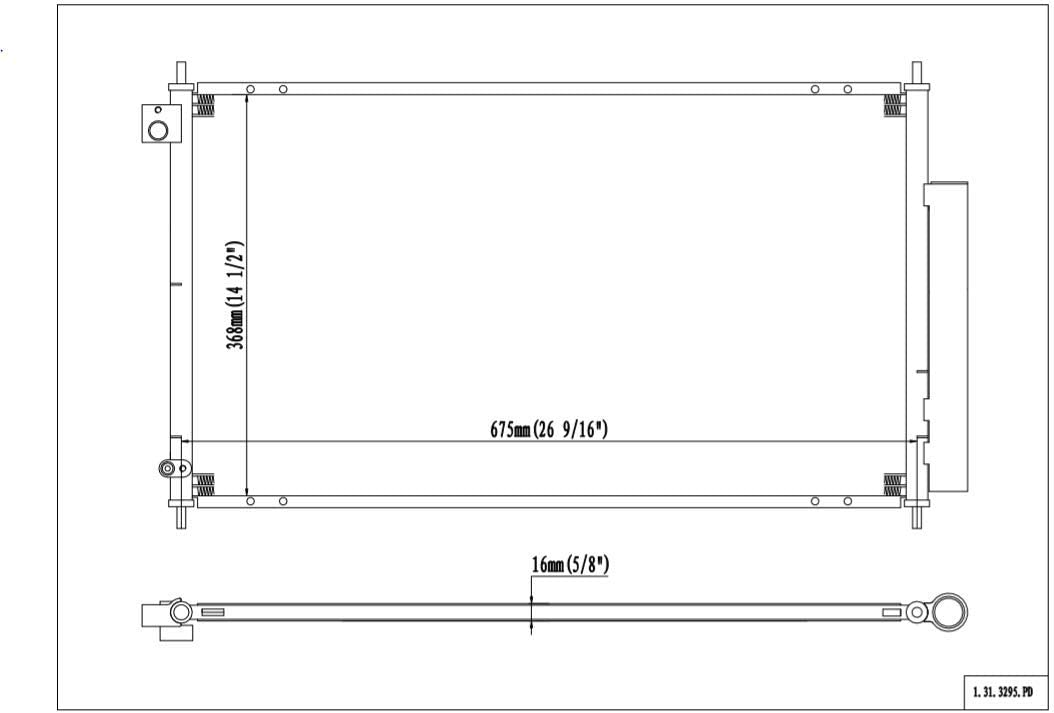Replaces AC3030119 80110-SEA-013 fits Acura TSX 2005-2008 2.4L L4 Klimoto Condenser