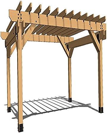 OZCO Building Products Project #301 - Kit de pérgola de 16 x 12 cm con 6 x 6 postes en madera de hierro: Amazon.es: Bricolaje y herramientas