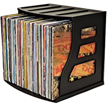 Binder Way LP Vinyl Record Storage Crate Stackable Organizer Holds Over 70 Albums 12x12 Paper Rack Scrapbook Cardstock Box Ring Binder Stand Lever Arch Shelf Cube Magazine Holder