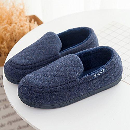 moelleux mâle d'Cotton Chaussures Padded de chaussons en La caoutchouc nbsp;Mesdames Accueil marine Semelle Parole LaxBa agréable nzSZqXRx