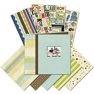 K&Company 8-1/2-Inch by 8-1/2-Inch Mega Scrapbook Kit, Family