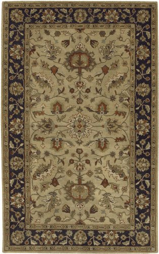Surya Crowne Hand Tufted Traditional Wool Area Rug, Gold, 6