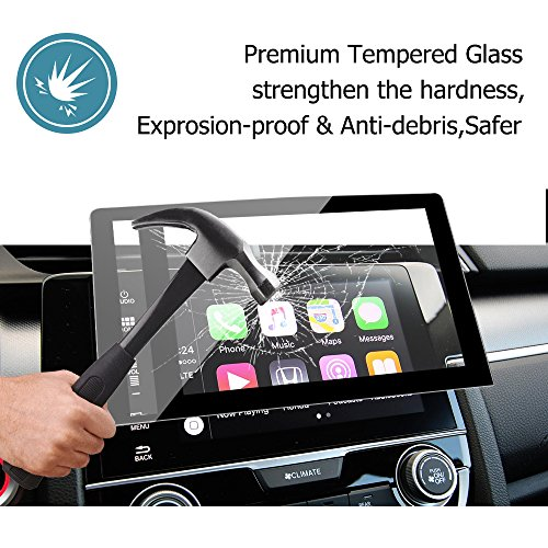 Ford Escape Tempered Glass Screen Protector by HeraShield Fits 2013-16 2017 2018 8in Touch Screen Radio T82018FESCAPE