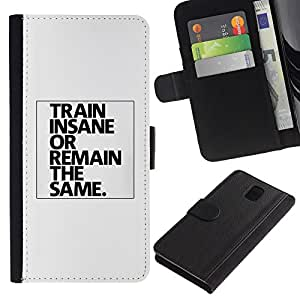 Graphic Case / Wallet Funda Cuero - Boxer Fighter Fitness Exercise - Samsung Galaxy Note 3 III N9000 N9002 N9005