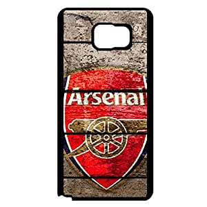 Customised Arsenal FC Logo Cell Phone Case Cover for Samsung Galaxy Note 5 Classic Vintage Design Official Football Team Arsenal Logo Protective Case