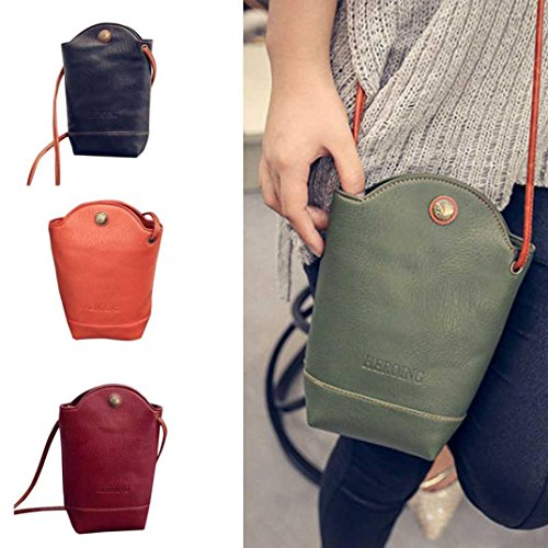 PU Green Women Vintage Shoulder Satchel Bags Cover Small Slim CieKen Crossbody Body Leather for Bags xU1XA6wq