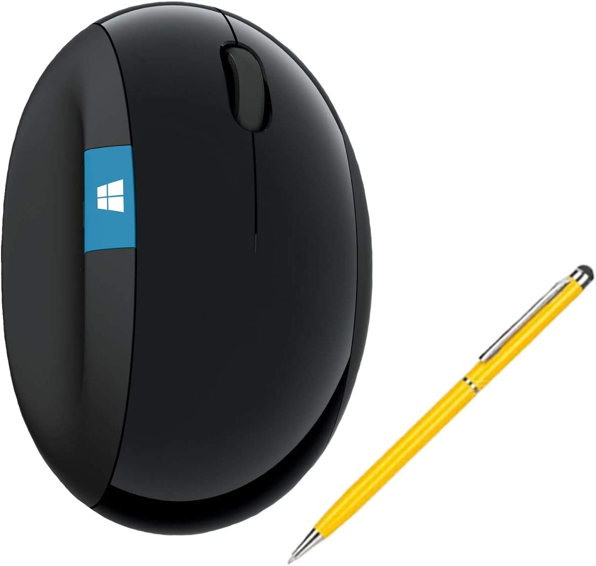 Microsoft Sculpt Wireless Ergonomic Mouse Bundle for Computers and Laptops with Fast Scrolling (L6V-00001) (1-Pack + Stylus)