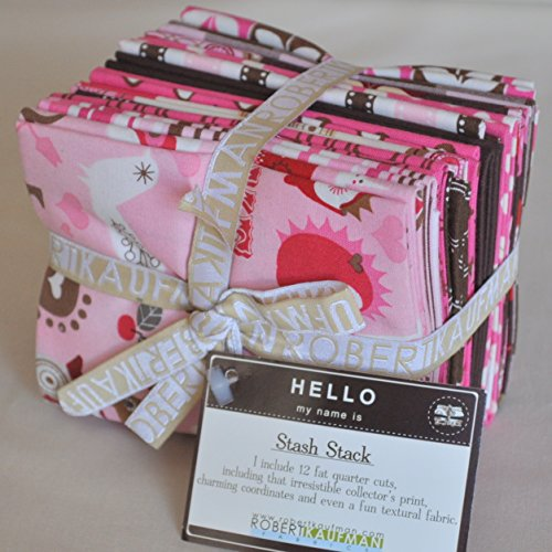 Kiss Me Stash Stack Fabric Fat Quarters by Suzanne Ultman for Robert Kaufman, 3 yards total ()