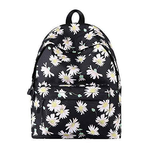 C-Xka Star Sky School Bag Con Estuche de lápices Fashion Leaf Creativo Floral Personalidad Bolsa Escuela secundaria...